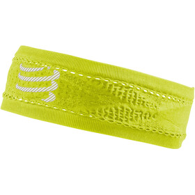 Compressport Thin On/Off banda para la cabeza, fluo yellow